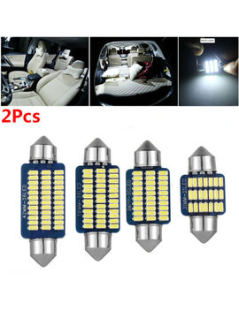 Auto Roof Interior Lamp Car Festoon Light White Dc 12 V Dome Lamp C5 W Canbus Led by Unbranded