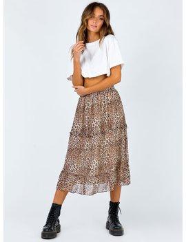 Nastasia Midi Skirt by Princess Polly