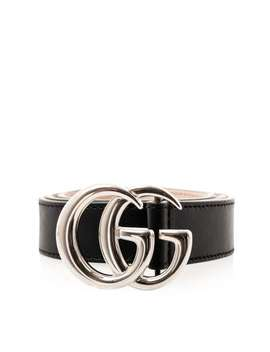 Marmont Leather Belt   Black by Gucci