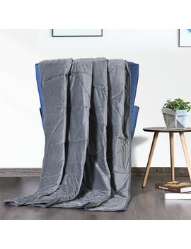 Gymax 15/17/20lbs Weighted Blanket Queen/King Size Crystal Velvet Fabric W/ Glass Beads by Gymax
