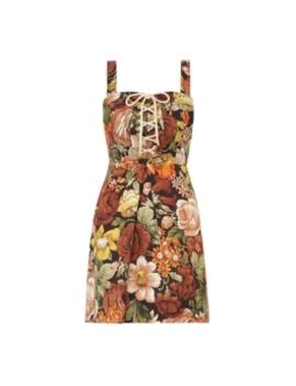 Bonita Lace Up Mini Dress by Zimmermann