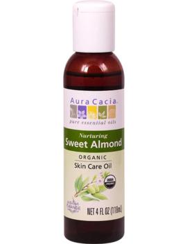 Aura Cacia Organic Skin Care Oil Nurturing Sweet Almond    4Fl Oz by Aura Cacia