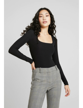 Square Neck    Long Sleeved Top by Topshop Tall