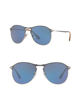 56mm Mirrored Aviator Sunglasses by Persol