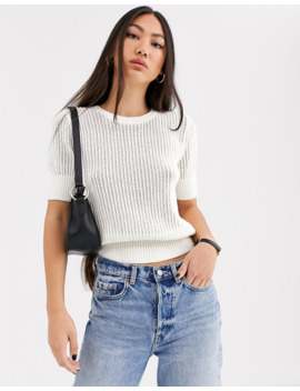 &Amp; Other Stories Knitted Top In White by & Other Stories