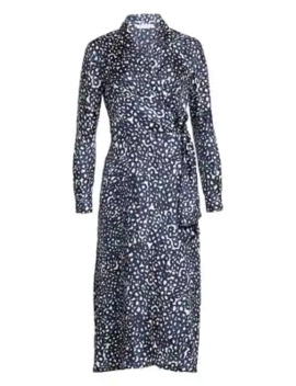 Ravel Abstract Circle Print Silk Midi Dress by Max Mara