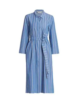 Caladio Striped Belted Shirtdress by Max Mara