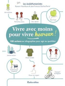 Vivre Avec Moins Pour Vivre Heureux! 100 Actions En Infographies by Jean François Rochas Parrot