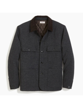 Wallace & Barnes Quilted Wool Chore Jacket With Eco Friendly Prima Loft® by Wallace & Barnes Quilted Wool Chore Jacket With Eco Friendly Prima Loft