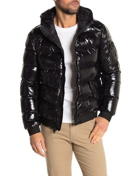 Patent Puffer Jacket by Calvin Klein