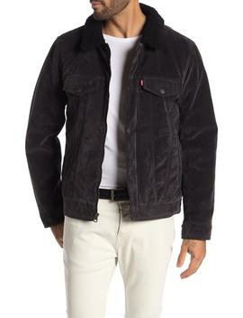 Faux Suede & Faux Shearling Lined Trucker Jacket by Levi's