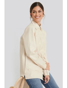 Pu Loose Fit Overshirt White by Na Kd Trend