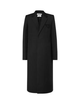 Slim Fit Woven Overcoat by Bottega Veneta