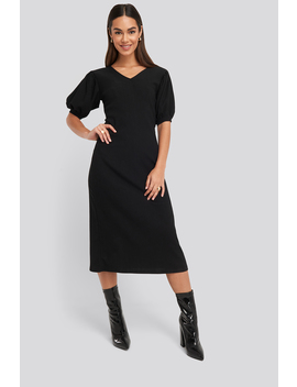 Textured Midi Dress Black by Na Kd