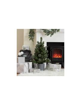 Argos Home 2.5ft Snowy Tree With Warm White Lights & Basket893/6121 by Argos