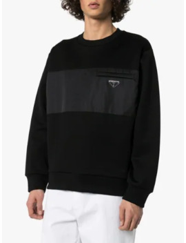 Logo Badge Panel Sweatshirt by Prada