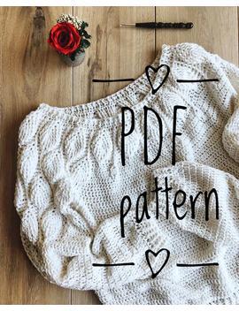 Pdf Pattern Crochet Sweater Leaves by Etsy
