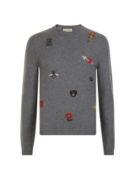 Embroidered Crew Knit Jumper by Gucci
