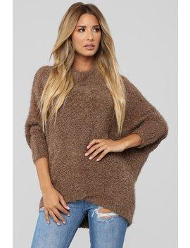 Unconditional Love Sweater   Mocha by Fashion Nova