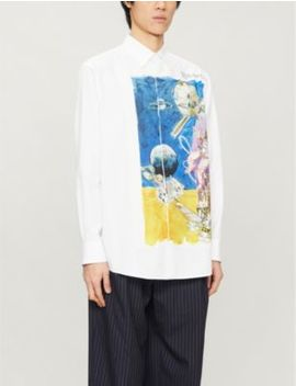 Spaceland Print Cotton Poplin Shirt by Valentino