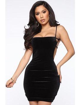 Valerie Velvet Mini Dress   Black by Fashion Nova