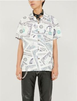 Ben Hundo Dollar Print Cotton Shirt by Awge