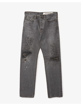 14oz Black Denim 5 P Monkey Cisco (3 Years Fade) by Kapital