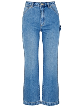 A Venice Blue Straight Leg Jeans by Abrand