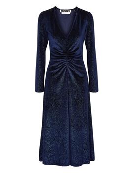 Number 7 Glittered Velvet Midi Dress by Rotate Birger Christensen