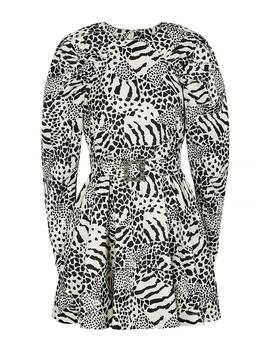 Tara Monochrome Printed Mini Dress by Rotate Birger Christensen