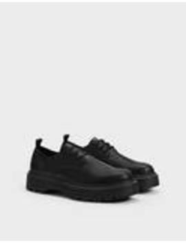 Men's Track Sole Derby Shoes by Bershka