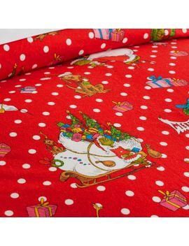 The Grinch™ Festive Flannel Sheet Set, Twin/Twin Xl, Red by P Bteen