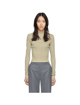 Tan Lapped Baby Turtleneck by Eckhaus Latta