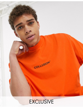 Collusion Oversized T Shirt With Print In Orange by Collusion