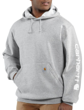 Carhartt Men's Midweight Sleeve Logo Hoodie (Regular And Big & Tall) by Carhartt