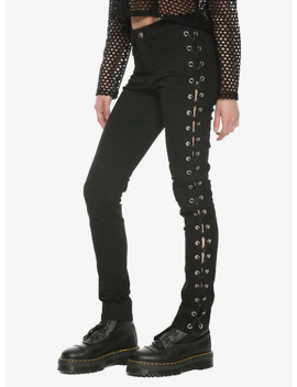 Royal Bones By Tripp Side Lace Up Skinny Jeans by Hot Topic