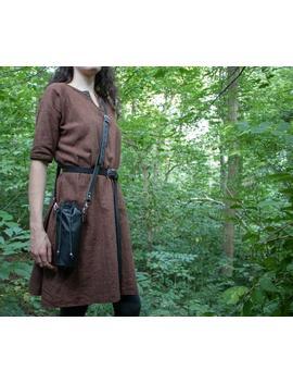 Water Bottle Leather Bag, Interchangable Belt Or Cross Body   Hiking, Larp by Etsy