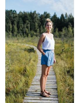 Abu Dhabi Shorts   High Waisted Shorts   Linen Shorts   Linen Clothing   Blue Shorts   Summer Shorts   Beach Shorts   Women's Shorts by Etsy