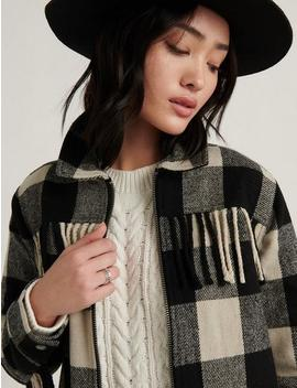 Wool Fringe Jacket by Lucky Brand