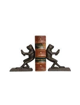 Cast Iron Frog Bookends by August Grove
