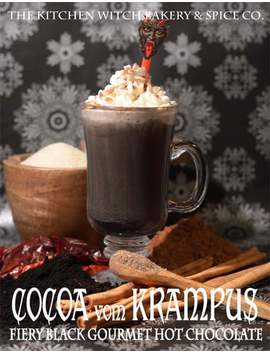 Cocoa Vom Krampus Fiery Black Gourmet Hot Chocolate   Cocoa Mix   Organic   Vegan   Spicy   Extra Dark by Etsy