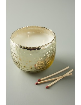 Night Gardenia Hammered Mercury Glass Candle by Anthropologie