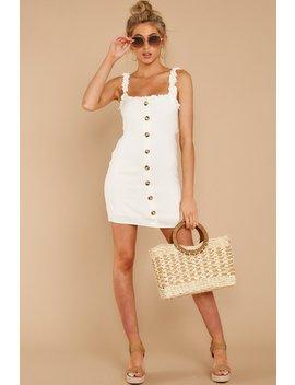 Familiar Me White Dress by Skylar Madison