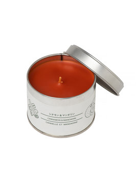 Large Tin Candle Cinnamon & Mandarin by Muji