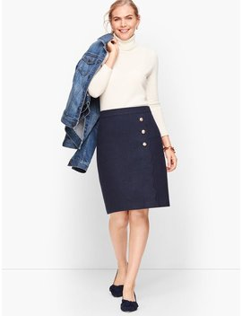 Faux Wrap A Line Skirt   Donegal by Talbots