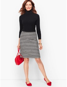 Wool Blend A Line Skirt   Check by Talbots