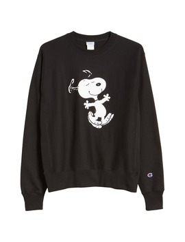 X Peanuts® Dancing Snoopy Graphic Sweatshirt by Champion