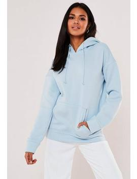 Powder Blue Basic Hoodie by Missguided
