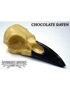 Chocolate Raven Skull by Etsy