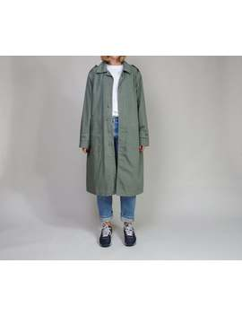 Vintage Daniel Hechter Trench Coat, 90s Unisex Minimalist Overcoat, Urban Vagabond Duster Coat, Size 2 by Etsy